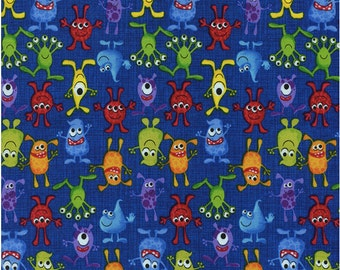 Up and Down Aliens 1 yard cut, Timeless Treasures - Aliens Fabric - cotton fabric