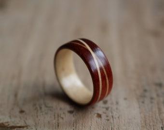 Padauk/double Maple ring