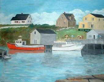 Nova Scotia Fishing Village- 2 Boat