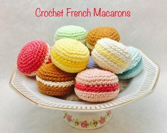 Crochet Macarons - Amigurumi French Macarons - Gift Set of 3