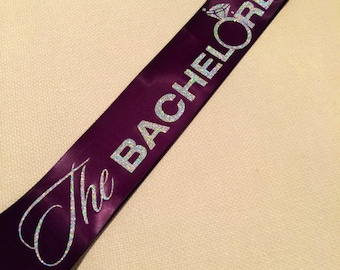 The bachelorette sash in purple