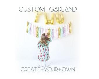 Custom Tassel Garland. Design Your Own Garland. Custom Event Decor. Custom Tassle Garland. Tissue Paper Garland. Custom Tissue Paper Garland