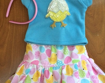 American Doll Dresses 18 inch doll clothes, girl dolltwin doll clothes 15 inch doll clothes Easter Basket Easter Egg