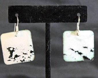 Enameled Copper Earrings (022017-022)