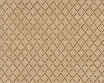 Moda COUNTRY ROAD Quilt Fabric 1/2 Yard By Holly Taylor - Sandy Tan 6666 19