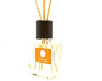 Patchouli Orange Reed Diffuser Oil Fragrance - Home Decor / Dorm Decor with Natural Un-dyed Reeds