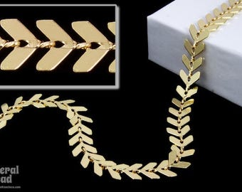 6.5mm Bright Gold Chevron Chain #CC60