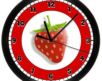 STRAWBERRY Wall Clock RED