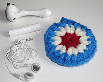 Independence Day, Headphones case, Puff Pocket, Purse pocket, Stash bag,  Fidget spinner case, earphone bag, earbuds pouch