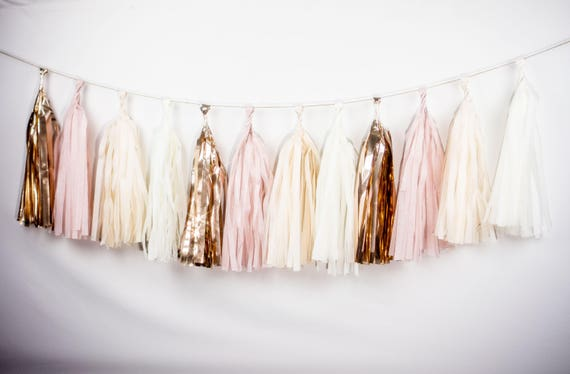 Tassel Garland Kit Blush Pink & Gold Champagne