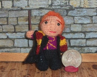 Ron Weasley Miniature Crocheted Doll  Ready to Ship