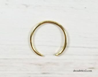 Solid 14K Yellow Gold Round Wire Toe Ring