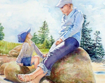 ART Custom Portrait, special order--Original Water Color Painting, made to order from photo