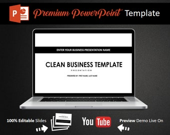 Clean Business PowerPoint Template, Power Point Template, PowerPoint Presentation, PowerPoint MockUp, PowerPoint Theme, Editable PowerPoint,