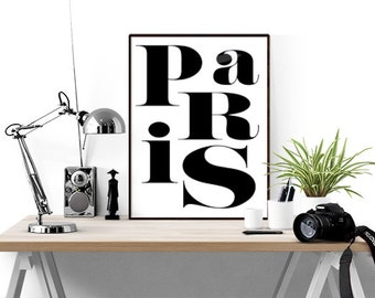 Paris Poster, Black and White Wall Art, French Poster, French Quote, French Wall Art, Paris Wall Art, Modern Wall Decor, Paris Gift