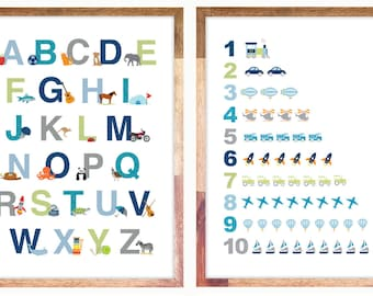 16x20 / Alphabet & Numbers Prints for Download
