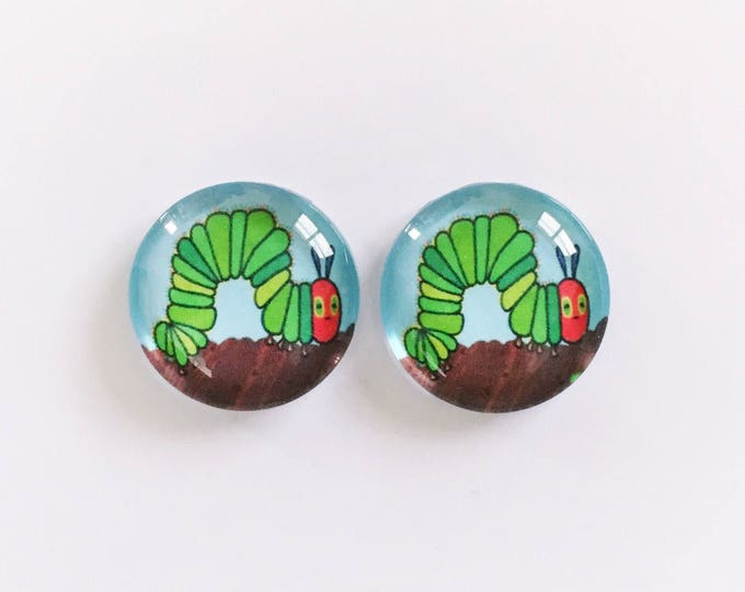 The 'Hungry Caterpillar' Glass Earring Studs