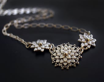 Dahlia Mum Sterling Silver Necklace