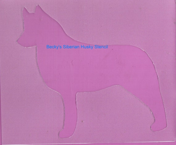 Puppy Bows ~ Siberian Husky dog breed plastic craft stencil