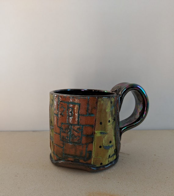 Handmade Ceramic Mug with Numbers