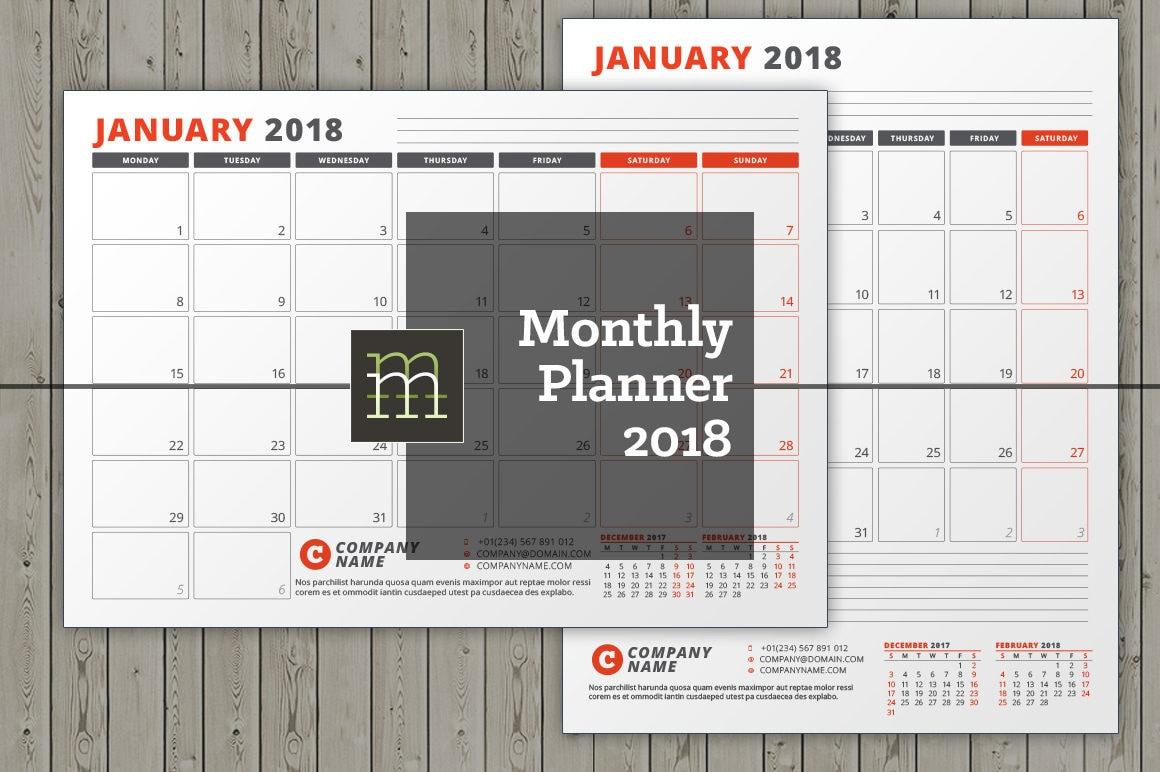 Atemberaubend Kalender Monatliche Vorlage Fotos ...