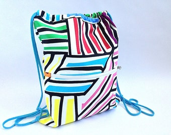 OFERTA Mochila, mochila tela, mochila saco, mochila, mochila comoda, monedero, mochila con bolsillo, mochila cordones, arcoíris, bolso