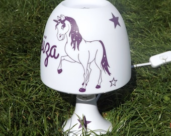 Lamp horse Unicorn with stars