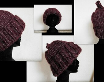 Dark purple sparkly Hat