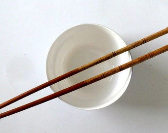 Vintage Etched Bamboo Chopsticks With Gold  Brass Metal Tips, set of 16,  Lightweight, Chopstick Set, 8 Pairs in Original box, Made in China