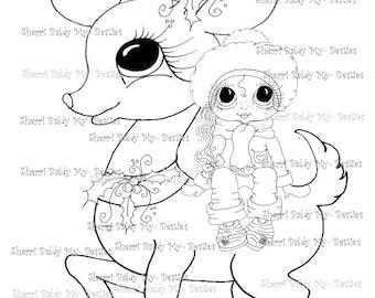 SOFORTIGER DOWNLOAD digitale Digi Stamps Big Eye Großkopf Dolls Digi meine - friends Rentier Rider 2 von Sherri Baldy