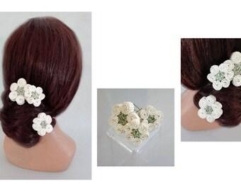 épingle chignon fleur, pic chignon mariée, pique cheveux mariage, chapeau femme mariage, barrette cheveux