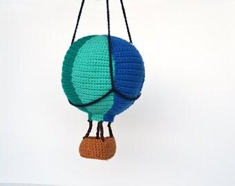 Hot Air Balloon Crochet Pattern, Amigurumi Hot Air Balloon Crochet Pattern, Crochet Hot Air Balloon Amigurumi, Air Ship Crochet Pattern