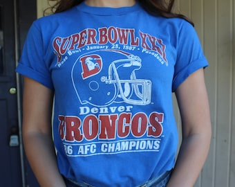 Denver Broncos 1987 Superbowl XXI T-shirt Small, Denver Broncos Football, Denver Broncos Tshirt, Vintage Superbowl Tee Shirt Soft Small