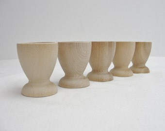 Wooden egg cup set of 5