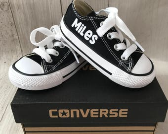 Personalized kids shoes - personalized chuck taylors - customized converse - Sesame Street - Birthday swag low top converse