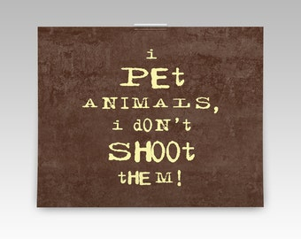 Humorous animal lover gift, perfect gift for vet office decor, pet wall art print, animal wall decor typography. Funny veterinarian gift!