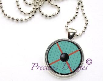 Vikings inspired Rollo style shield pendant. Rollo shield necklace