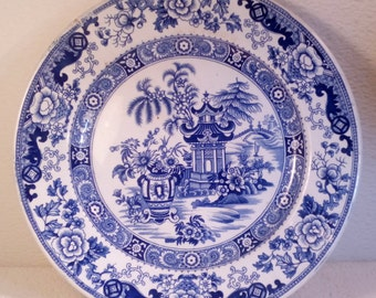 """""""Creil et Montereau"""" plate has tryptich / XIX th"""