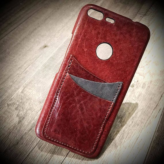 Goole Pixel 2 XL (bigger one) Italian Leather Case 3 cards slots to use as protection Choose COLORS