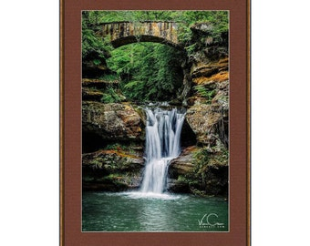 Old Man Cave Area Upper Watefall Fine Art Print, Hocking Hills State Park, Ohio, Fine Art Photography, Wall Art, Wall Decor,