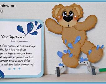 Premade scrapbook paper piecing summer set for scrapbook page album for girl boy bear