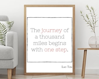 Minimalistic Motivational and Inspiring Quote Art Printable