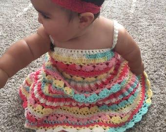 Crochet Tiered Dress