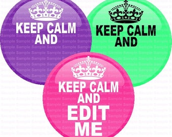 Editable Keep Calm Bottle Cap Images 4x6 Bottlecap Collage Scrapbooking Jewelry Hairbow Center