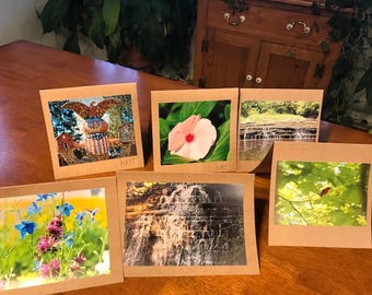 Assorted Nature Blank Photo Notecards
