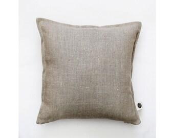 Throw pillow - linen pillow - natural linen pillow cover - decorative pillow cover - cushion case 0001