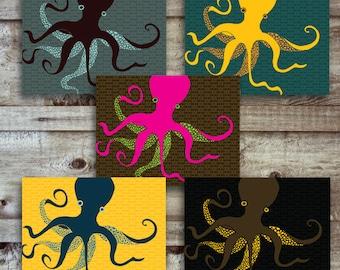 Octopus - Card set of 10