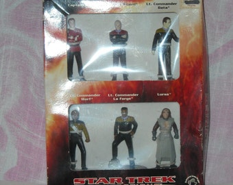 "Star Trek The Next Generation, Generations, Six 3"" Tall Figures Set, Applause"