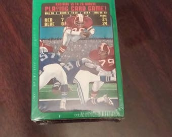 All In The Cards Football Card Game, Houston Texas, Retro - Vintage