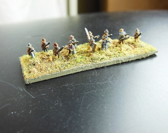 Miniature Civil War Soldiers, 1:285 Scale Soldiers, Lead Soldiers, 10mm Figures, Blue and Grey Miniatures, GHQ Miniatures